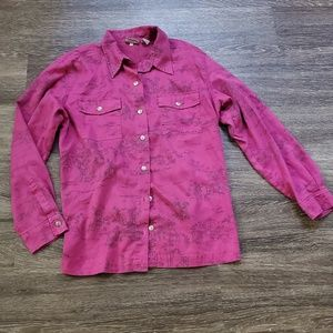 Chico's | Suede Button Down Blouse